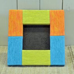 彩色揉み和紙のフォトフレーム